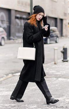 All black, street style, New York City, Asia Typek / Garance Doré