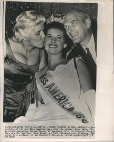 Maria Beale Fletcher, Miss America 1962, and her parents.