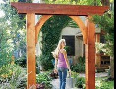 Build a Garden Arch: A small project that makes a big impression in your backyard.This classic garden arch has just six parts and can be built in less than a day. Create a gateway, frame a walkway in a hedge, or make it part of a trellis or pergola. Garden Archway, Garden Arbor, Garden Entrance, Garden Trellis, Garden Gates And Fencing, Arbors Trellis, Side Garden, Garden Beds, Garden Plants