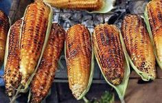 Grilled corn sold in the streets