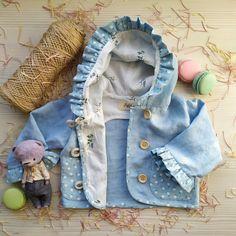 Blue Linen Hooded Jacket Childrens Coat Hoodie Hooded Baby Velvet Pockets | Etsy | MaryLinen