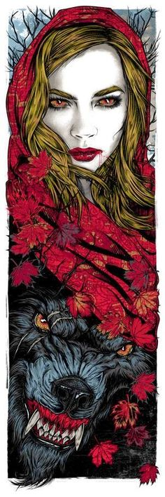 The Geeky Nerfherder: Cool Art: 'Red Riding Hood' Inspired Print by Rhys Cooper