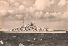 The Bismarck in the Baltic Sea    The Bismarck in the Baltic Sea in October 1940. At this time the battleship was still missing all three rangefinders as well as half of the anti-aircraft battery.