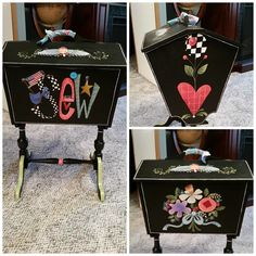 Tole Decorative Paintings, Tole Painting Patterns, Paint Patterns, Painted Chairs, Painted Furniture, Diy Furniture, Diy Magazine Holder, Magazine Racks, Tin Can Flowers