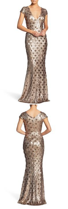 f39065365d22 Lina Patterned Sequin Trumpet Gown by Dress the Population formal gowns