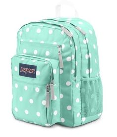 Jansport Big Student Backpack - Aqua Dash Pots   17.5