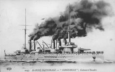 Condorcet was one of the six Danton class battleships built for the French Navy in the mid-1900s. The ship participated in the Battle of Antivari in the Adriatic Sea and helped to sink an Austro-Hungarian protected cruiser. Condorcet spent most of the rest of the war blockading the Straits of Otranto and the Dardanelles to prevent German, Austro-Hungarian and Turkish warships bottled up.