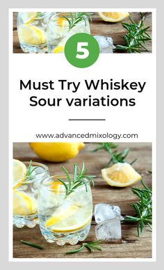 5 Must Try Whiskey Sour variations Whisky Sour Cocktails, Good Whiskey Drinks, New Year's Eve Cocktails, Fruity Cocktails, Winter Cocktails, Best Cocktail Recipes, Martini Recipes, Whiskey Sour Ingredients, Gimlet Recipe