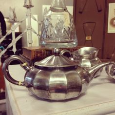 Antique Tiffany and Co Silver Plate Tea Set  3 by CuriosityVintage, $198.00