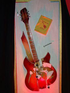 Pete Townshend's smashed Rickenbacker Fireburst 360