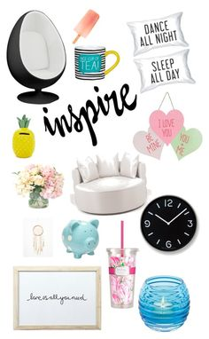 """""""Home decor Collection✌?️"""" by amelia2002 ❤ liked on Polyvore featuring interior, interiors, interior design, home, home decor, interior decorating, Lemnos, Forever 21, Albertine and Lilly Pulitzer"""