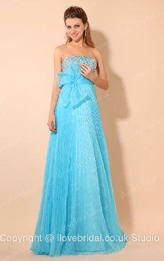 Enticing Strapless Sequined Empire Waist Evening Dress With A big Bowknot