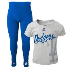 Girls 4-6x Majestic Los Angeles Dodgers Drop Tail Dolman Top with Leggings $12.00