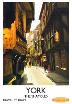An unframed vintage railway poster of York The Posters Uk, Train Posters, Railway Posters, Vintage Travel Posters, Vintage Ads, York England, Retro Poster, Train Art, British Rail
