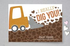 I Really Dig You Classroom Valentine's Cards by Chelsey Scott at minted.com