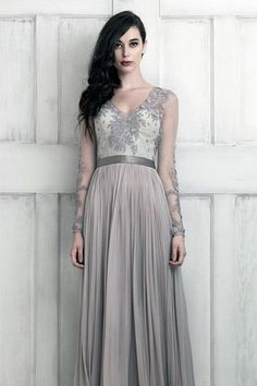 Dark and sultry bridal dress
