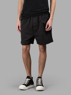 Shorts for Men On Sale, Military Green, Cotton, 2017, S Rick Owens