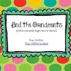FREE! Print the Pages.Laminate for durability.Place the light bulbs in Pocket Chart.Hide ornaments behind them.Students have to identify the sight wor...