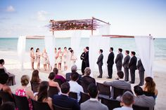 Fairmont Mayakoba Mexico Destination Wedding. Elegant, classic destination wedding style.