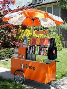 Punto rodante para venta de libros
