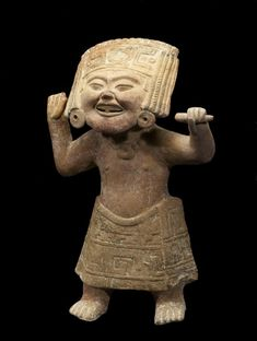 """Female Ritual Performer - South-central Veracruz was home to a number of vibrant sculptural traditions. The Walters Art Museum in the special exhibition """"Exploring Art of the Ancient Americas: The John Bourne Collection Gift."""" http://art.thewalters.org/detail/80202/female-ritual-performer/"""