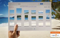 hI Viajes print ad tropical holiday