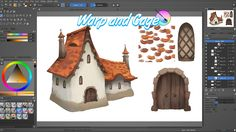 Krita tutorial: How to use the warp and cage transform for concept art