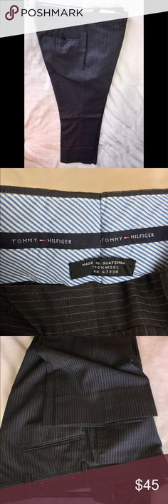 Tommy Hilfiger 100% wool men's pinstriped pants 31 Dress pin striped 100% wool men's dress pants Size 31 Tommy Hilfiger Pants Dress