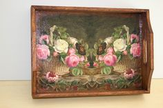 Trays, Decoupage, Painting, Home Decor, Art, Crafting, Art Background, Decoration Home, Room Decor