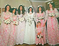 1970s That is a whole lot of daisies for one wedding!