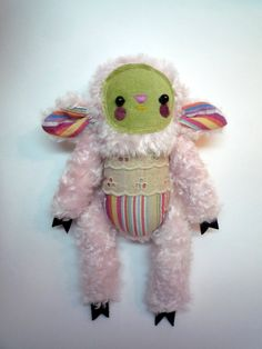 Milly  Little  sheep , soft art  toy creature  by Wassupbrothers. MADE TO ORDER