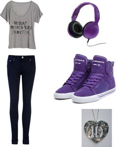 """purple one direction outfit"" by brandyayers on Polyvore"