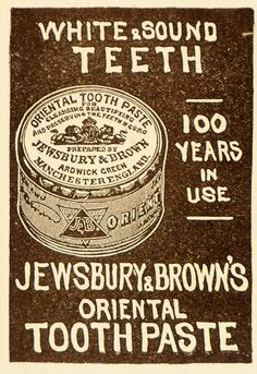 1905 Vintage Ad Jewsbury & Brown Oriental Toothpaste - ORIGINAL ADVERTISING OLD6