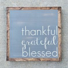 welcome fall, the season of thankfulness with this gorgeous thankful grateful blessed sign for your home. it also makes a FABULOUS gift {if you