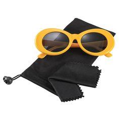 2bad9c140f Bold Retro Oval Mod Thick Frame Sunglasses