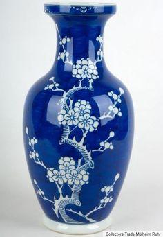 China 20. Jh. A Chinese Cracked Ice Baluster Vase - Vaso Cinese Chinois Chino