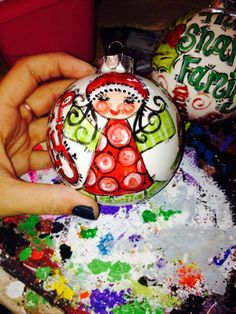 Personalized Merry Christmas with Elf Ornament $20 *includes ribbon*