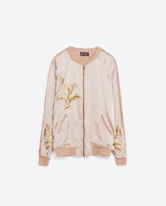 Image 8 of EMBROIDERED BOMBER-STYLE JACKET from Zara