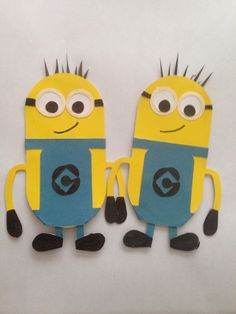Minion bookmarks, cricut basic shapes