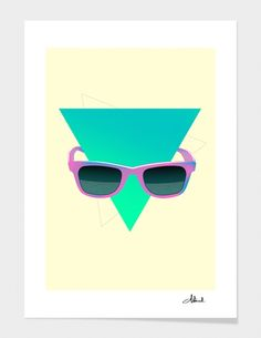 """hipster sunglasses"" - Numbered Art Print by Robert Farkas on Curioos"