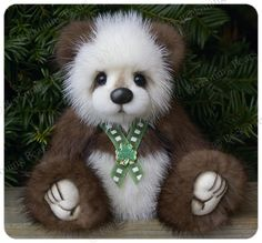 """Please meet 7.25"""" Keegan , made from recycled mink fur. He is available for adoption on my website HERE"""