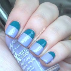 Sally Hansen Fairy Teal and Lacey Lilac Color Blocking