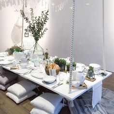 Update your living room with a side table that combines high quality design and style alongside versatility. Discover the range at The White Company today. Boho Garden Party, Dinner Party Decorations, Dinner Parties, Indoor Picnic, Zen, Hangout Room, Floor Sitting, Hanging Table, White Side Tables