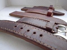 Vintage leather strap for Panerai