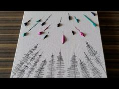 Simple Northern Lights Painting Demo / Step by Step for Beginners / Daily Art Therapy / Day - New Ideas Acrylic Painting Techniques, Oil Painting Abstract, Light Painting, Diy Painting, Abstract Art, Watercolor Painting, Northern Lights Tattoo, Easy Canvas Art, Diy Canvas