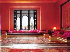 Arabic living room. I would love it in hunter and forest green though.