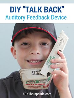 ARK Therapeutic: DIY Auditory Feedback Device. Pinned by SOS Inc. Resources. Follow all our boards at pinterest.com/sostherapy/ for therapy resources.