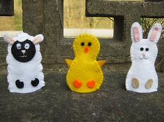 Easter Finger Puppets Set of 3 Chick Bunny von GracesFavours | Craft Juice