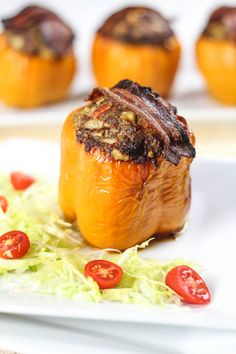 Meatloaf Stuffed Bell Peppers - love this idea but would use my own THM meatloaf recipe