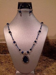 Blue crystals.